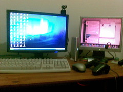 my desk (monitor and peripherals side)