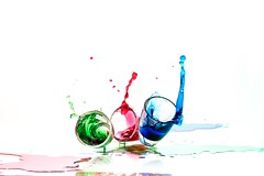 RGB (ICT_photo) Tags: blue red ontario green glass guelph splash shotglasses ianthomas ictphoto