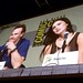 Michael Fassbendor and Megan Fox on the Jonah Hex panel at the Warner Brothers Presentation at San Diego Comic-Con International