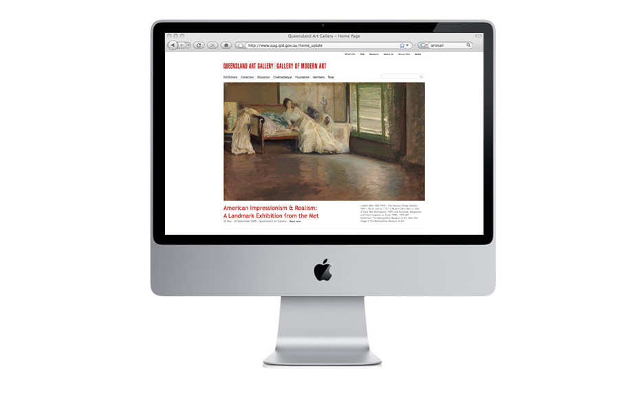 Studio Pounce - Queensland Art Galley website