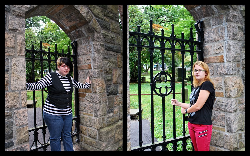 Sleepy Hollow Cemetery Front Gate Collage