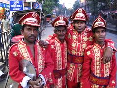 Drunk Marching Band (walker_dawson) Tags: street india west temple photography muslim islam mosque communist hindu hinduism bengal calcutta maoist