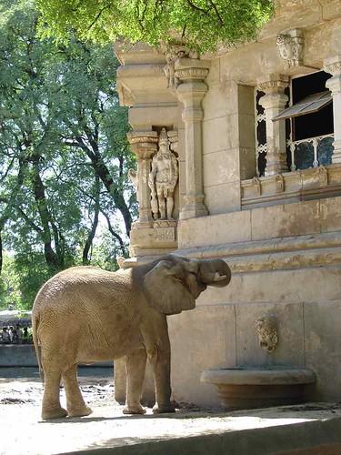 Maison des éléphants du zoo de Buenos Aires.