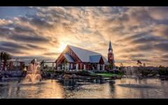 Mariners | Irvine, CA (isayx3) Tags: california sunset sun lake church fountain nikon glare 5 chapel mariners handheld nikkor studios 1224mm f4 hdr irvine d3 exposures plainjoe isayx3