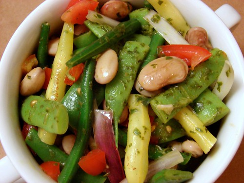 4 bean salad with lemon basil dressing