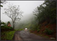 Turning Point (Abubaker) Tags: morning reflection car maharashtra turns trafficsign konkan lightson dapoli weekendshoot photographerspune ratnagiridistrict puneweekendshoots tamhinighats