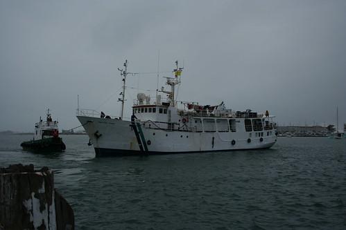M/V Pacific Link docking 8/23/2009