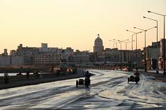 La Habana - Malecon (Blue Spirit - heart took control) Tags: silhouette sunrise reflections alba cuba malecon capitolio sidecar lahabana betterlarge avana explored malecontradicional scattifotografici