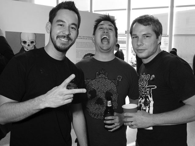 Mike Shinoda, Joe Hahn and Shepard Fairey