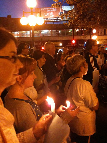 Candlelight vigil, Journal Square