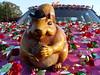 Cowboy Squirrel (blue_j) Tags: pink make squirrel cowboy pinwheel cowboyhat artcar hoodornament makerfaire sanmateofairgrounds makerfairebayarea makerfaire2009 upcoming:event=574200