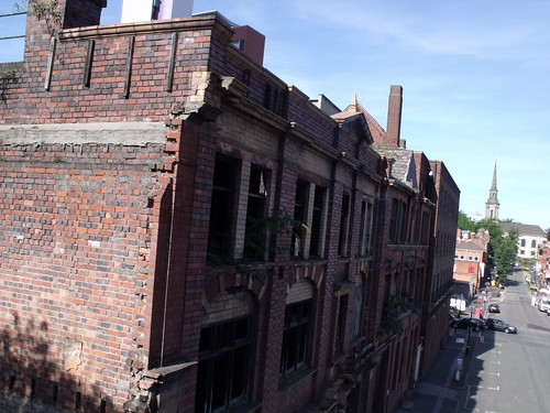 The derelict buildings at 61 - 64 Ludgate Hill, Birmingham