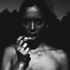 arid (PaytonGuerra) Tags: portrait bw sunlight white selfportrait black me contrast self dark square shadows lips sp blah chapstick canon50d