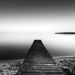Nowhere Left To Go (diesmali) Tags: sunset lake beach water monochrome sweden jetty sverige hdr vttern motala stergtland sigma1020mmf456exdchsm johanklovsj varamo