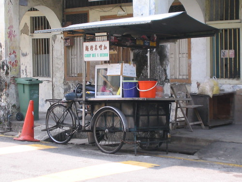 Curry mee and beehoon cart, Penang, Malaysia
