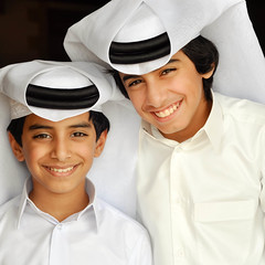 (Jaz Q6r) Tags: kids brothers traditional smiles guys hamad abdulla    thob    3
