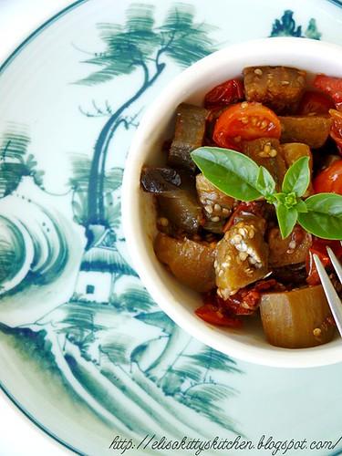Oriental melanzane a funghetto