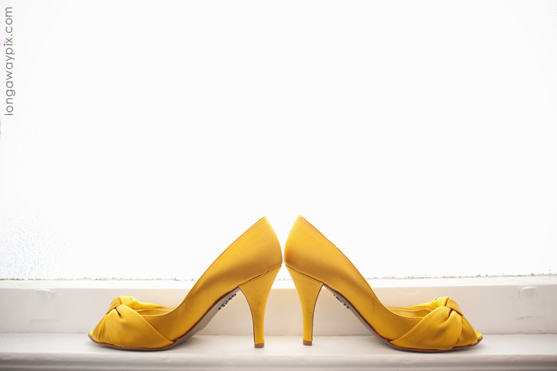 2016new arrival handmade yellow high heels wedding shoes with