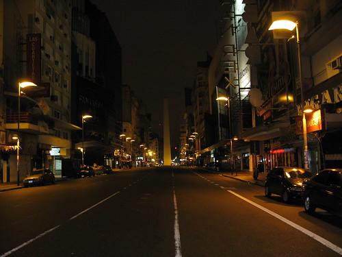 La Avenida Corrientes De Noche