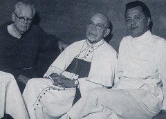Fr. Stippich, Bishop Olano, and Msgr. Flores