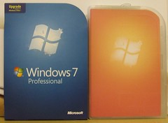 Windows 7 Pro - Slip cover & inside package