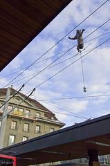 Carlo Lischetti's Bär vor dem Bahnhofplatz Umbau