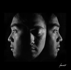 imperfections. (Tomasito.!) Tags: light boy portrait selfportrait man black male apple sorry monochrome beautiful face youth photoshop self dark beard macintosh asian nose person goatee eyes mac nikon asia jaw philippines young dramatic surreal manipulation down monotone lips exams manila drama jt eyebrows depressing noriega tomasito imperfections d90 tellmeastory nikond90 mygearandme