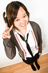A White-Wall Halloween: Best Korean Ever (www.jeremylim.ca) Tags: portrait halloween girl asian chinese schoolgirl
