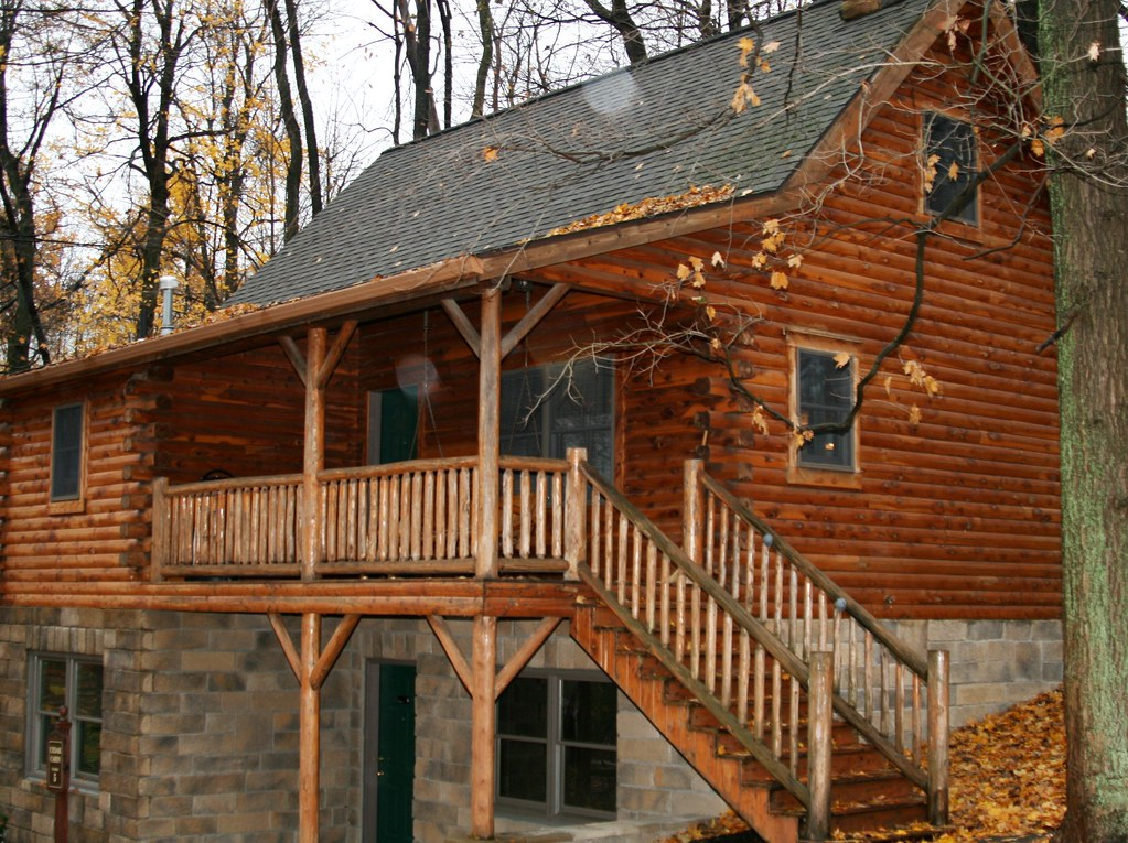 A loft style Cedar Cabin in Berlin Ohio.