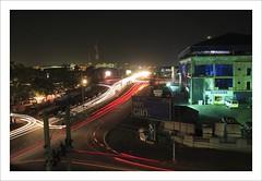 Abuja at Night (HaukeSteinberg.com) Tags: africa light cars night dark slow shutter nigeria streaks abuja