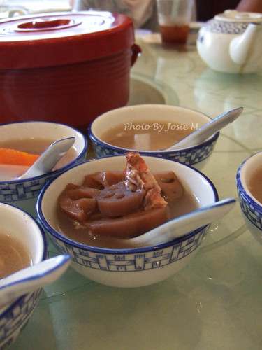 Complimentary Lotus root soup