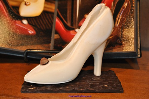 Chocolate shoe creation at Chocolatas