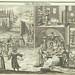 Baking matzeh and cleaning chametz , 1724, from Juedisches Ceremoniel