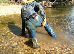 19 WS Wipe'n ass off first, could use help! (wranglerswimmer) Tags: creek swimming river cowboy boots clothed cowboyhat swimmingfullyclothed wetjeans guysinwetjeans wetladz wetlad creekhike wetcowboyboots wetwranglerjeans swimmingincowboyboots