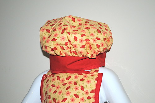 Red Flower Apron Set