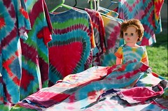 stoned doll (ro_hudson) Tags: venice film beach real nikon doll pyramid photographers stall redhead special plastic using turbo document fujifilm dye cosmic tye fm2 botox stoner stallholder