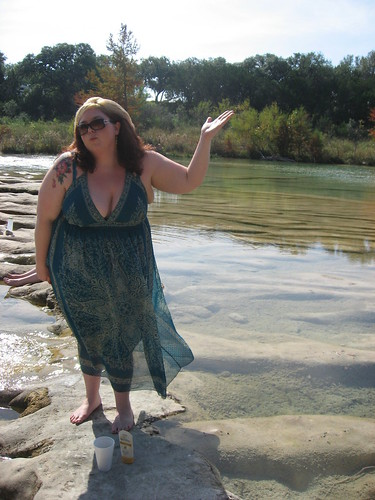 Bbw amateur outside