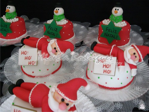 Mini bolos de Natal / Christmas mini cake