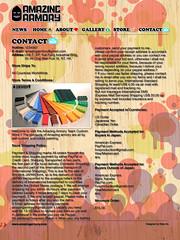 AMAZING ARMORY.COM page contact