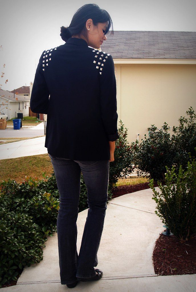 DIY studded blazer (back)
