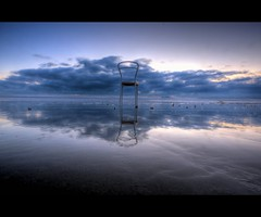 Heaven's Waiting (Mick h 51) Tags: ireland sky dublin cold beach clouds strand sunrise canon reflections eos december hdr portmarnock photomatix 450d anawesomeshot