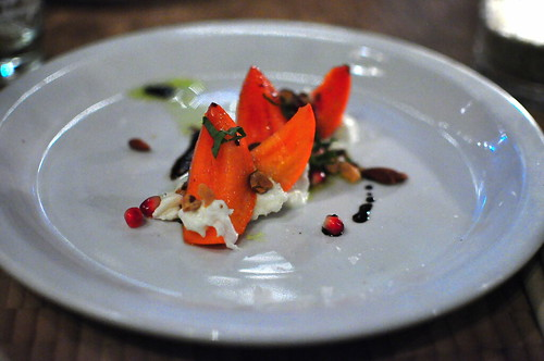 BURRATA AND PERSIMMONS