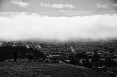 rolling in (9North) Tags: sanfrancisco california white black monochrome fog coast rollingin