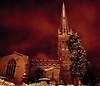 Night-time Snow... (Chris H#) Tags: longexposure red snow church northamptonshire freezing nighttime redsky remotecontrol stmaryschurch s3000 rushden nighttimesnow itwasbloodycold 3degreesc nikond5000 nikor1855kitlens