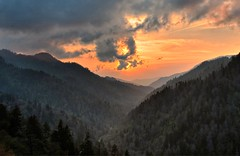 Morton's Overlook, Smoky Mountains (Pheno Me Non) Tags: trees sunset mountains clouds landscape nikon parks overlook nationalparks smokies firs newfoundgap chimneytops d90 thesmokies thegreatsmokymountainsnationalpark mortonsoverlook