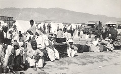 the racecourse in Quetta, shortly after the earthquake of May 31st, 1935. Officers from the Staff College organized a refugee camp at the racecourse. (myprivatecollection6) Tags: race earthquake course 1935 quetta