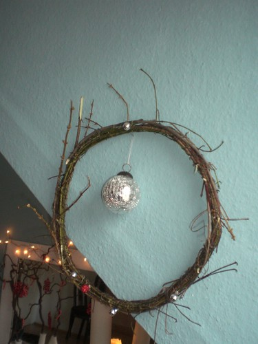 unfinished christmas wreath by you.