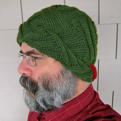 Ribbed-entrelac Hat
