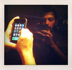 "52 Weeks of 'The One You Love' Project (25): ""King of the iPhone"" (Sion Fullana) Tags: reflection square hands creative squareformat reflejo grateful anton allrightsreserved newyorkers iphone myboyfriend 500x500 fakepolaroids creativeshots iphoneshots iphoneography iphoneographer sionfullana shakeitapp hipstamatic kingoftheiphone iphonepassion antonsiphone3gs throughthelensofaniphone"