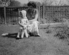 My mum and me, Bromley, Kent - her parents garden, there's lots of photos of her as a child in the same garden! (emmdee) Tags: mary 1940s marguerite averylongtimeago icantrememberanything 36ashgroveroad askmymother